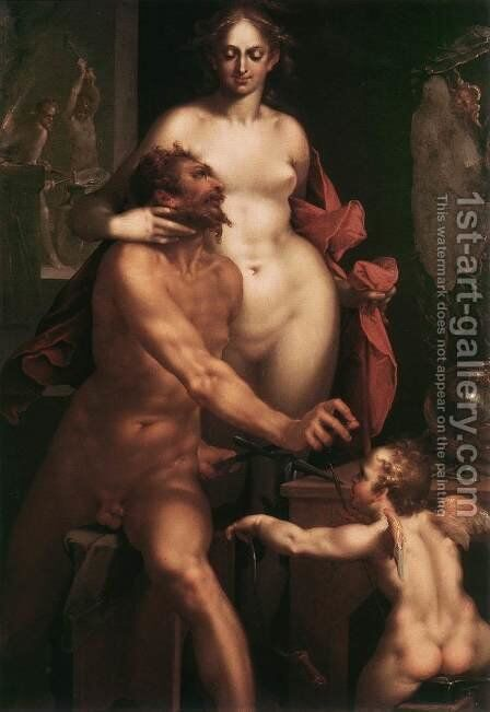 Venus and Vulcan c. 1610 by Bartholomaeus Spranger - Reproduction Oil Painting