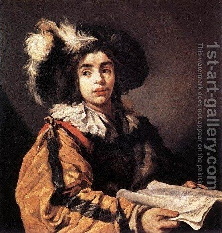 The Young Singer 1622-23 by Claude Vignon - Reproduction Oil Painting