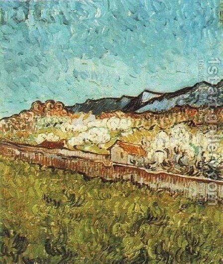 At The Foot Of The Mountains by Vincent Van Gogh - Reproduction Oil Painting