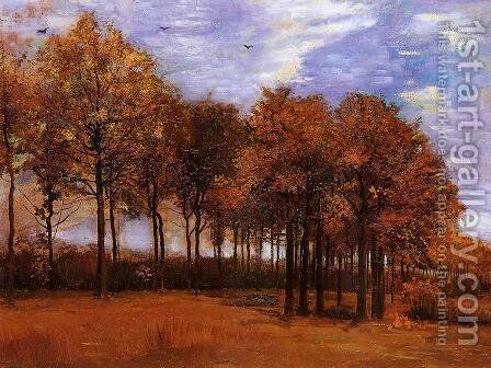 Autumn Landscape by Vincent Van Gogh - Reproduction Oil Painting
