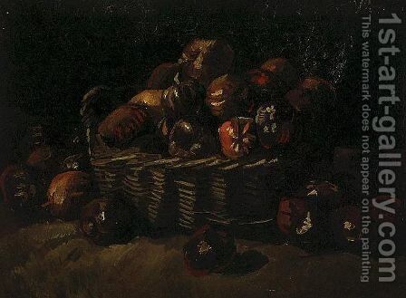 Basket Of Apples II by Vincent Van Gogh - Reproduction Oil Painting