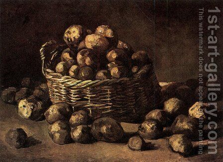Basket Of Potatoes by Vincent Van Gogh - Reproduction Oil Painting