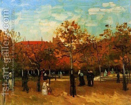The Bois De Boulogne With People Walking by Vincent Van Gogh - Reproduction Oil Painting