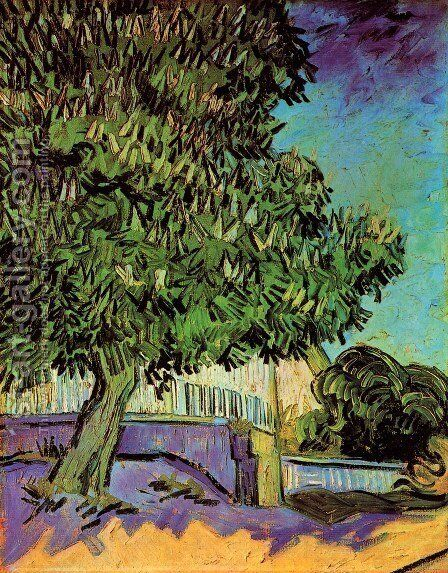 Chestnut Tree In Blossom by Vincent Van Gogh - Reproduction Oil Painting