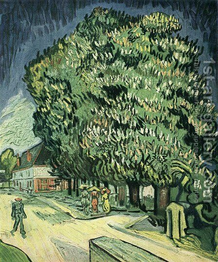 Chestnut Tree In Blossom III by Vincent Van Gogh - Reproduction Oil Painting