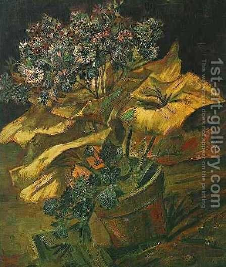 Cineraria In A Flowerpot by Vincent Van Gogh - Reproduction Oil Painting