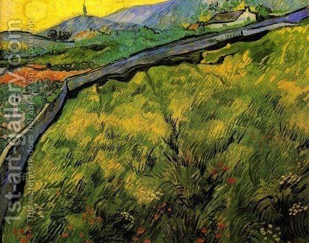 Field Of Spring Wheat At Sunrise by Vincent Van Gogh - Reproduction Oil Painting