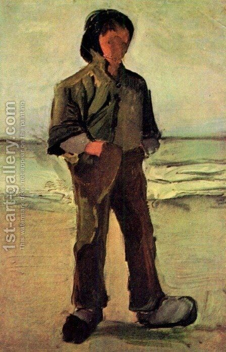Fisherman On The Beach by Vincent Van Gogh - Reproduction Oil Painting