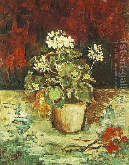Geranium In A Flowerpot by Vincent Van Gogh - Reproduction Oil Painting