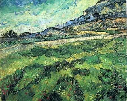 Green Wheat Field by Vincent Van Gogh - Reproduction Oil Painting