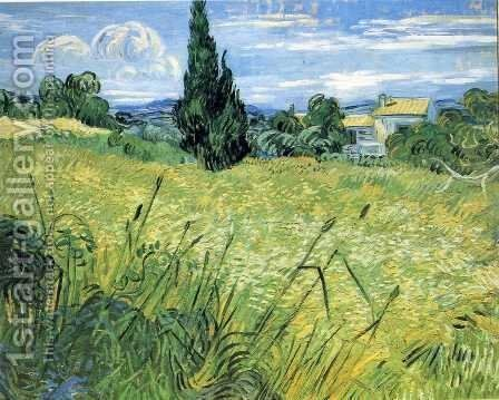 Green Wheat Field With Cypress by Vincent Van Gogh - Reproduction Oil Painting