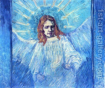 Half Figure Of An Angel (after Rembrandt) by Vincent Van Gogh - Reproduction Oil Painting