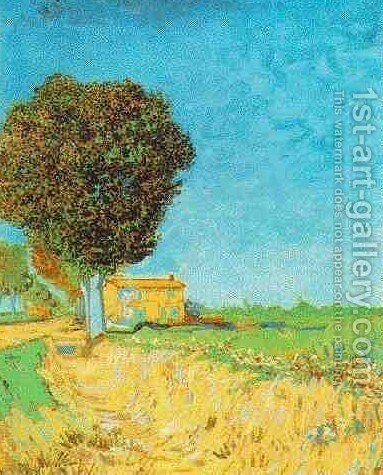 Lane Near Arles A by Vincent Van Gogh - Reproduction Oil Painting