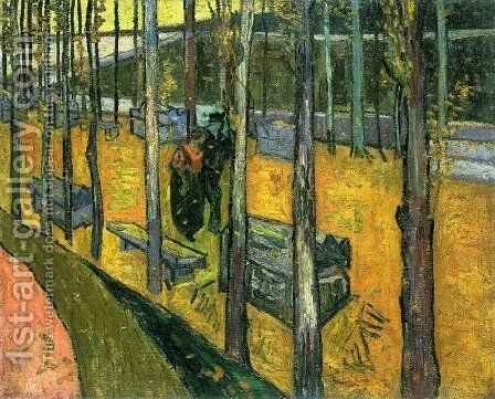 Les Alyscamps II by Vincent Van Gogh - Reproduction Oil Painting