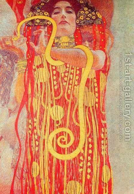 Medicine (Hygieia) by Gustav Klimt - Reproduction Oil Painting
