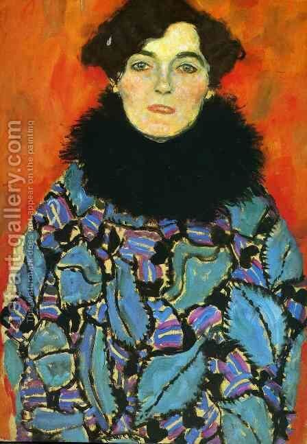 Portrait Of Johanna Staude (unfinished) by Gustav Klimt - Reproduction Oil Painting
