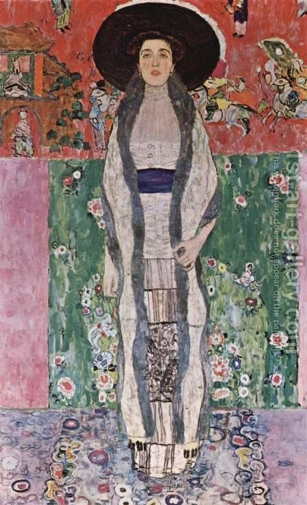 Portrait Of Adele Bloch Bauer II by Gustav Klimt - Reproduction Oil Painting