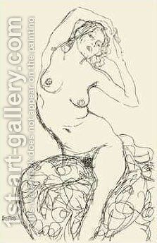 Female Nude Study by Gustav Klimt - Reproduction Oil Painting