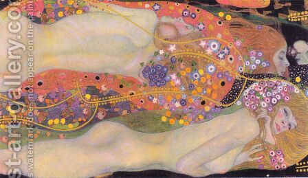 Water Serpents II by Gustav Klimt - Reproduction Oil Painting