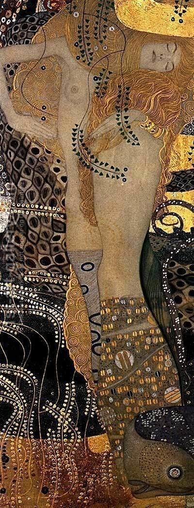 Water Serpents I by Gustav Klimt - Reproduction Oil Painting