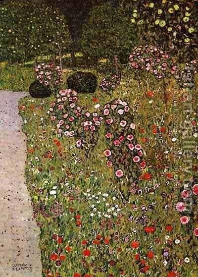Fruit Garden With Roses by Gustav Klimt - Reproduction Oil Painting