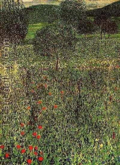 Landscape Of A Garden by Gustav Klimt - Reproduction Oil Painting