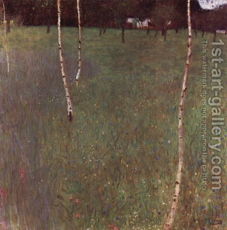 Farmhouse With Birches by Gustav Klimt - Reproduction Oil Painting