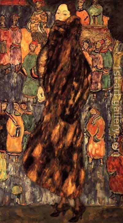 Polecat Fur The (unfinished) by Gustav Klimt - Reproduction Oil Painting