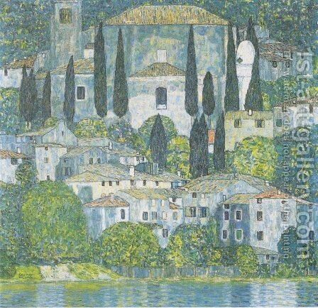 Church In Cassone by Gustav Klimt - Reproduction Oil Painting