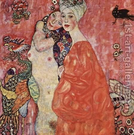 The Woman Friends by Gustav Klimt - Reproduction Oil Painting