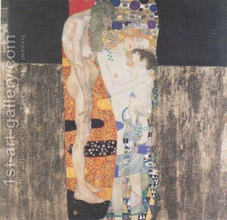 The Three Ages Of Woman by Gustav Klimt - Reproduction Oil Painting