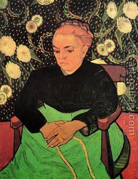 Madame Roulin Rocking The Cradle (La Berceuse) by Vincent Van Gogh - Reproduction Oil Painting