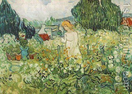 Marguerite Gachet In The Garden by Vincent Van Gogh - Reproduction Oil Painting