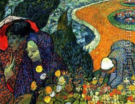 Memory Of The Garden At Etten by Vincent Van Gogh - Reproduction Oil Painting