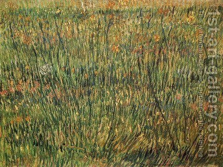 Pasture In Bloom by Vincent Van Gogh - Reproduction Oil Painting