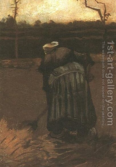 Peasant Woman Digging IV by Vincent Van Gogh - Reproduction Oil Painting