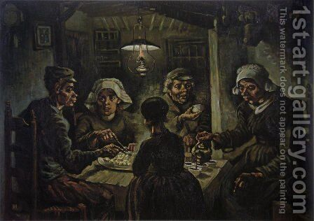 The Potato Eaters by Vincent Van Gogh - Reproduction Oil Painting