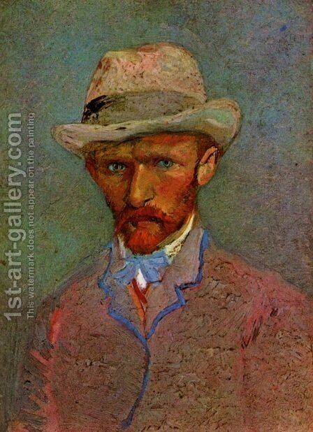 Self Portrait With Grey Felt Hat II by Vincent Van Gogh - Reproduction Oil Painting