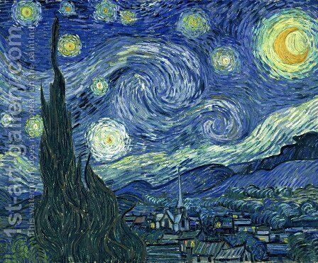 Starry Night by Vincent Van Gogh - Reproduction Oil Painting