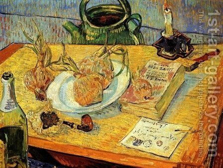 Drawing Board Pipe Onions And Sealing Wax by Vincent Van Gogh - Reproduction Oil Painting