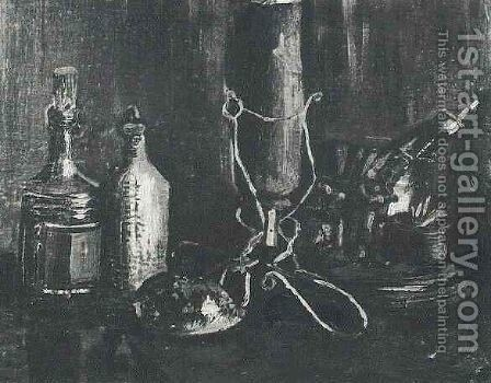 Still Life With Bottles And A Cowrie Shell by Vincent Van Gogh - Reproduction Oil Painting