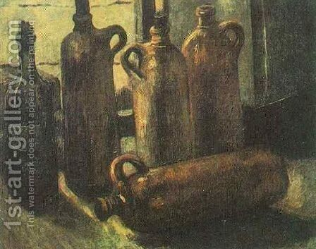 Still Life With Five Bottles by Vincent Van Gogh - Reproduction Oil Painting
