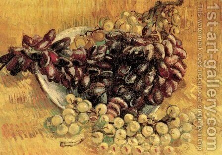 Still Life With Grapes by Vincent Van Gogh - Reproduction Oil Painting