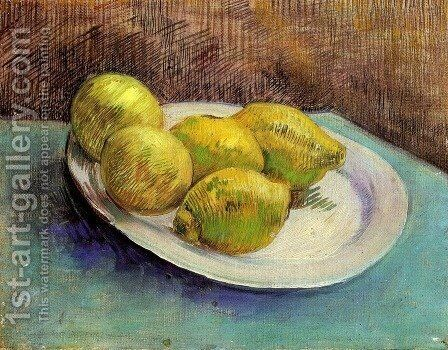 Still Life With Lemons On A Plate by Vincent Van Gogh - Reproduction Oil Painting