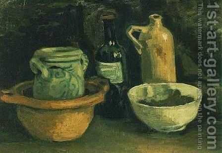 Still Life With Pottery And Two Bottles by Vincent Van Gogh - Reproduction Oil Painting