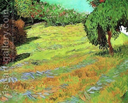 Sunny Lawn In A Public Park by Vincent Van Gogh - Reproduction Oil Painting