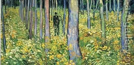 Undergrowth With Two Figures Painting by