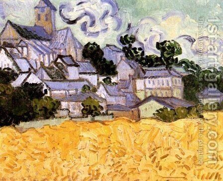 View Of Auvers With Church by Vincent Van Gogh - Reproduction Oil Painting
