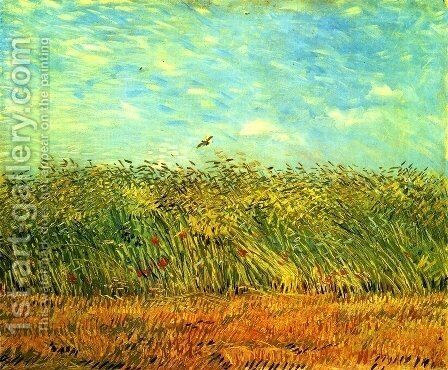 Wheat Field With A Lark by Vincent Van Gogh - Reproduction Oil Painting
