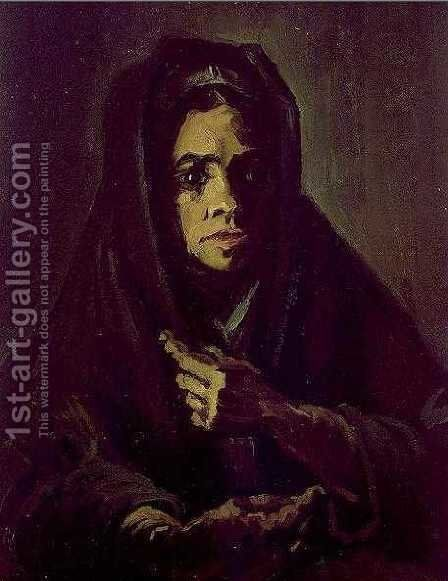 Woman With A Mourning Shawl by Vincent Van Gogh - Reproduction Oil Painting